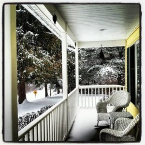 This picture of my mom's porch at Christmas is one I couldn't wait to put on Instagram.