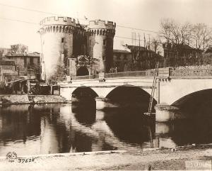 Bridge over Meuse River, France