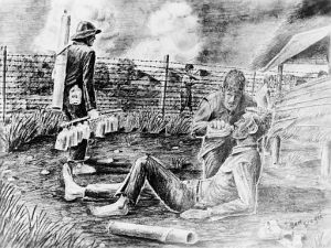 512px-Giving_a_sick_man_a_drink_as_US_POWs_of_Japanese,_Philippine_Islands,_Cabanatuan_prison_camp