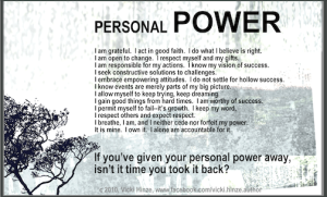 vicki hinze, personal power