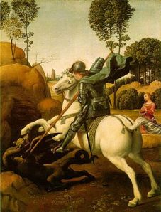 St. George and the Dragon. Raphael, about 1506