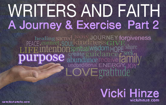Vicki Hinze, Writers and Faith, Part 2