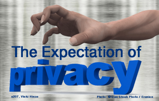 Expectation of Privacy, Vicki HInze