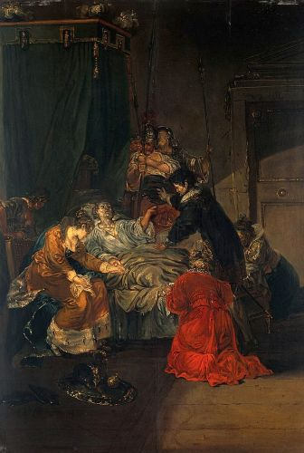 Death_of_a_king._Oil_painting_by_E_L_Musso_(-)._Wellcome_V0017609