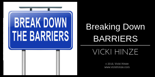 Vicki Hinze, Christians Read, Breaking Down Barriers