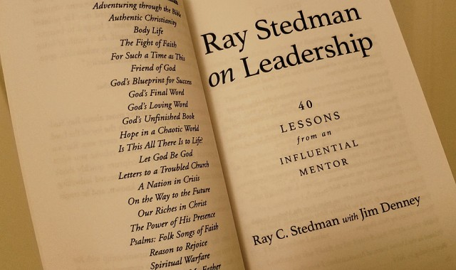 Ray Stedman on Leadership - Interior
