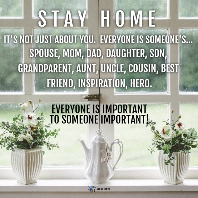 Stay Home, Vicki Hinze, Christians Read